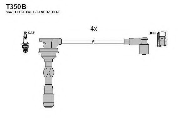 Провода высоковольтные комплект TESLA T350B