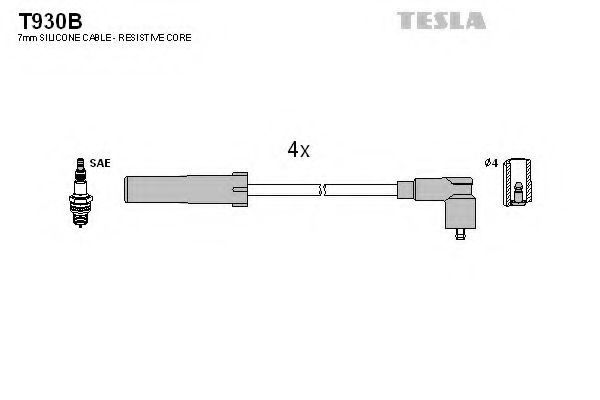 Провода высоковольтные TESLA T930B