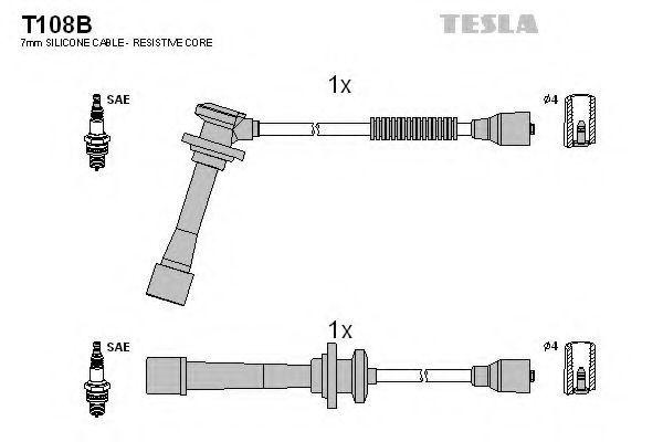 Провода высоковольтные комплект TESLA T108B