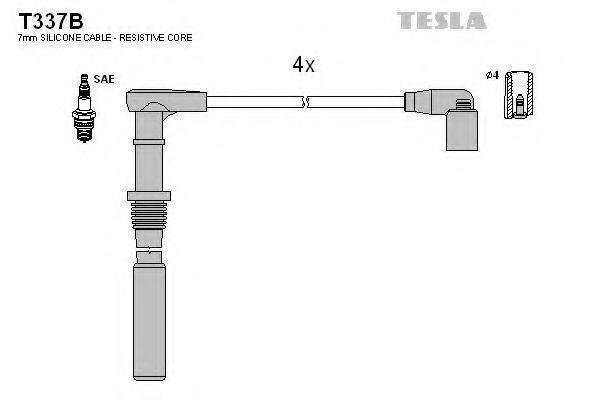 Провода высоковольтные TESLA T337B