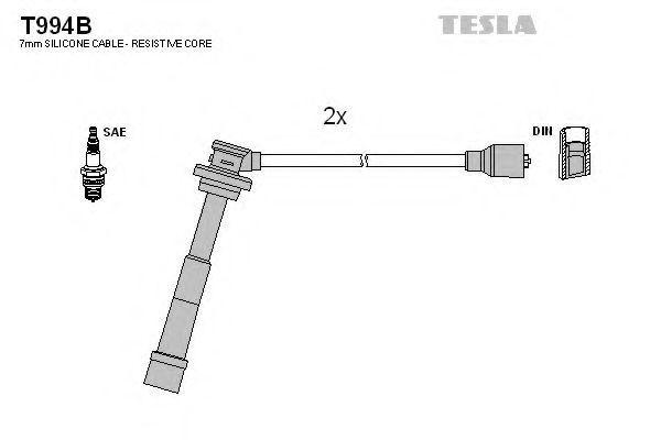 Провода высоковольтные комплект TESLA T994B