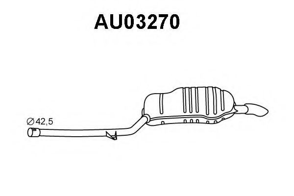 Глушитель выхлопных газов конечный VENEPORTE AU03270