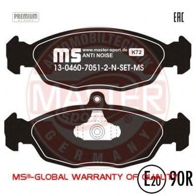 Комплект тормозных колодок, дисковый тормоз MASTERCARE 13046070512NSETMS
