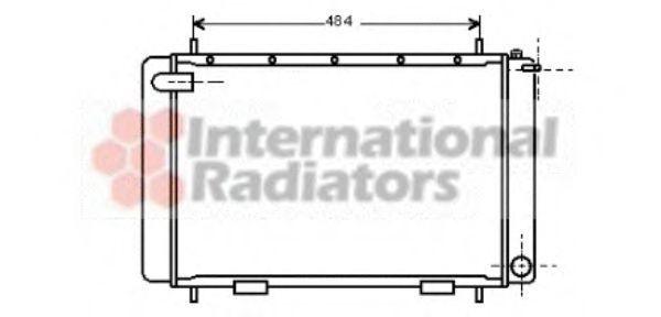 Радиатор, охлаждение двигателя VAN WEZEL 02002063