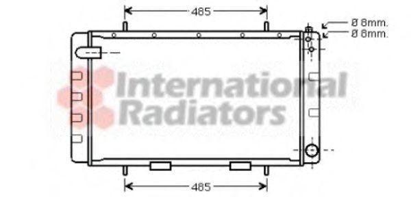 Радиатор, охлаждение двигателя VAN WEZEL 02002065
