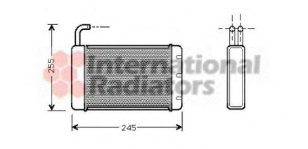 Теплообменник, отопление салона VAN WEZEL 02006086