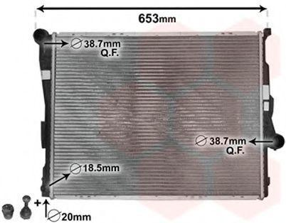 Радиатор охлаждения двигателя VAN WEZEL 06002205