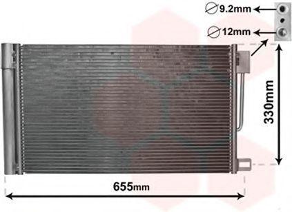 Конденсатор, кондиционер VAN WEZEL 17005314