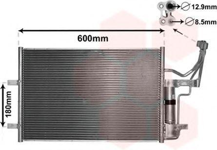 Радиатор кондиционера VAN WEZEL 27 00 5184