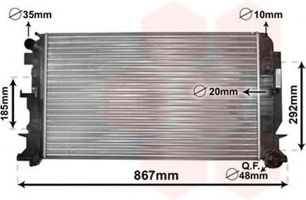 Радиатор охлаждения VAN WEZEL 30 00 2444