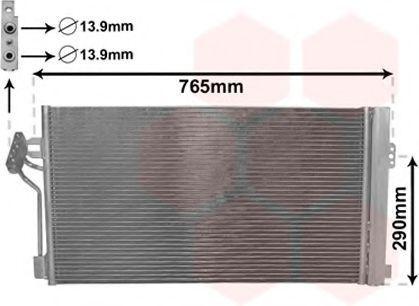 Радиатор кондиционера VAN WEZEL 30005352