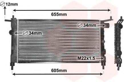 Радиатор охлаждения VAN WEZEL 37 00 2183
