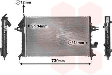 Радиатор охлаждения двигателя VAN WEZEL 37 00 2294