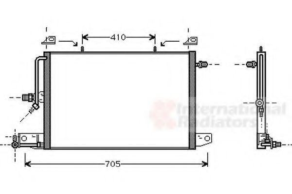 Радиатор кондиционера VAN WEZEL 03005117