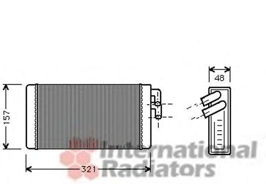Радиатор отопителя салона VAN WEZEL 0300605(2)