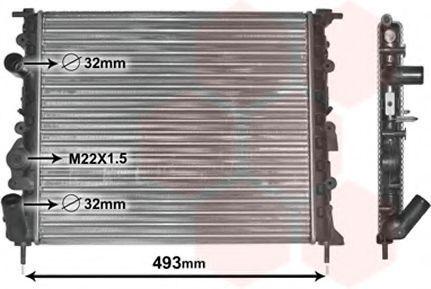Радиатор VAN WEZEL 43002197