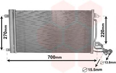 Радиатор кондиционера VAN WEZEL 49 00 5038