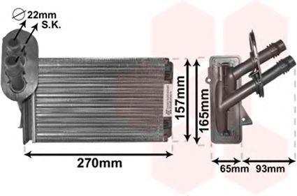 Радиатор отопителя салона VAN WEZEL 58 00 6173