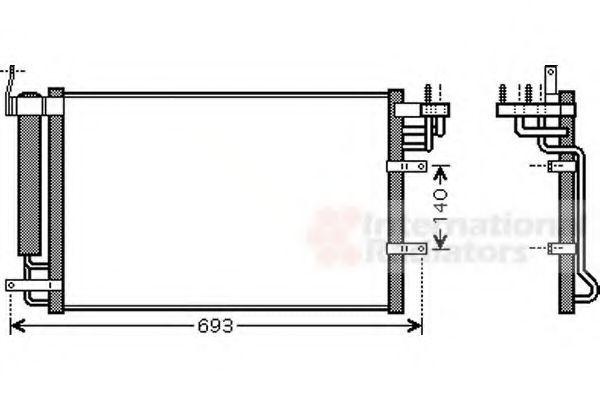 Радиатор кондиционера VAN WEZEL 83005093