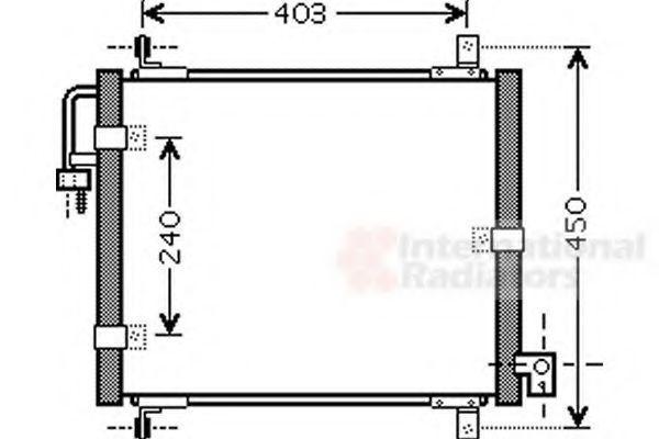Конденсатор, кондиционер VAN WEZEL 83005101