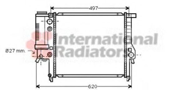 Радиатор охлаждения VAN WEZEL 06 00 2125