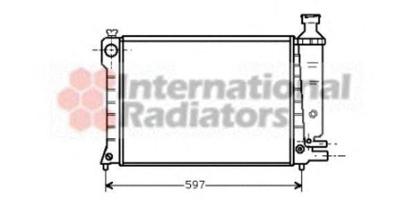 Радиатор охлаждения VAN WEZEL 09 00 2036
