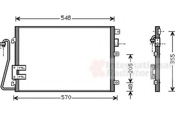 Радиатор кондиционера VAN WEZEL 43005376