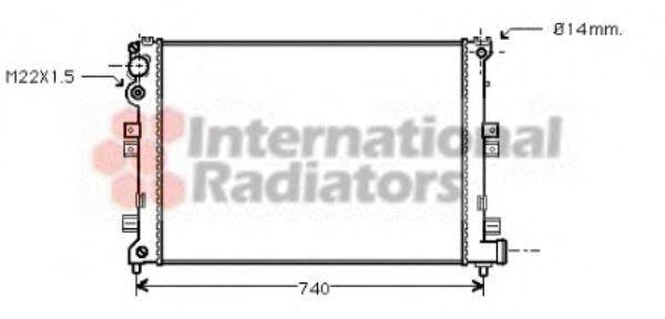 Радиатор охлаждения двигателя VAN WEZEL 09002089