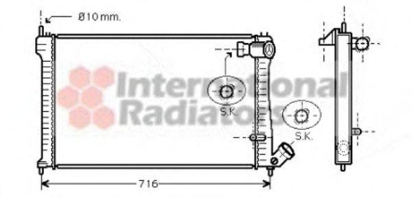 Радиатор охлаждения VAN WEZEL 09002102