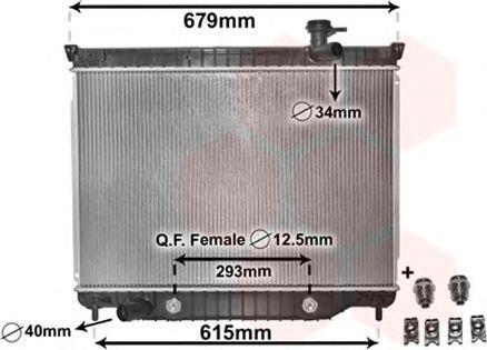 Радиатор, охлаждение двигателя VAN WEZEL 08002040