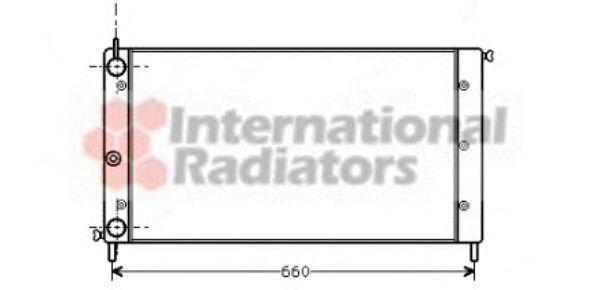 Радиатор, охлаждение двигателя VAN WEZEL 17002058