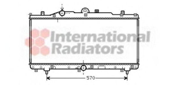 Радиатор, охлаждение двигателя VAN WEZEL 17002166