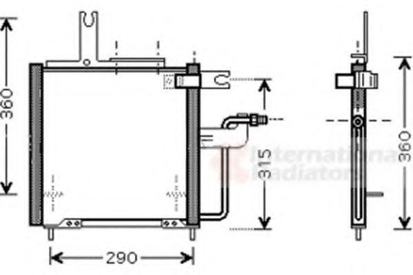 Конденсатор, кондиционер VAN WEZEL 27005197