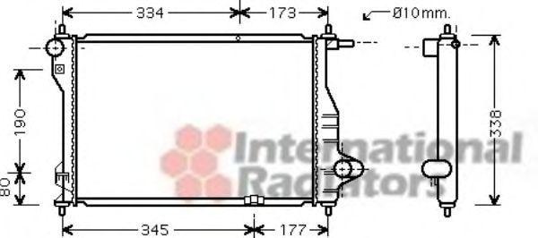 Радиатор охлаждения VAN WEZEL 81 00 2075