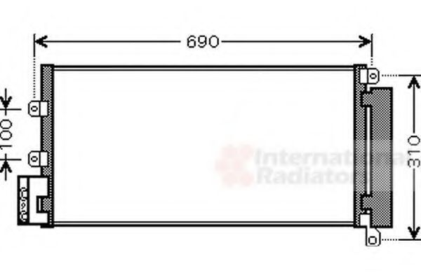 Конденсатор, кондиционер VAN WEZEL 17005356