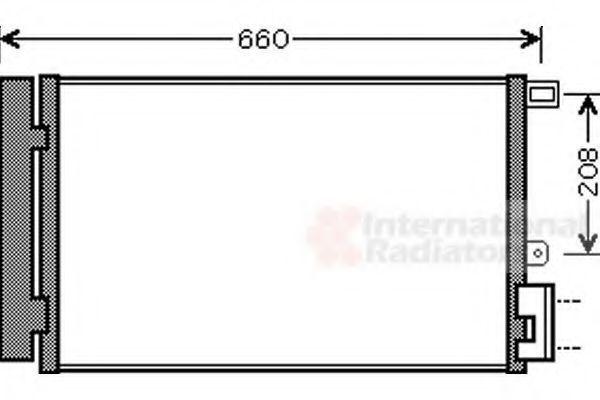 Конденсатор, кондиционер VAN WEZEL 17005357