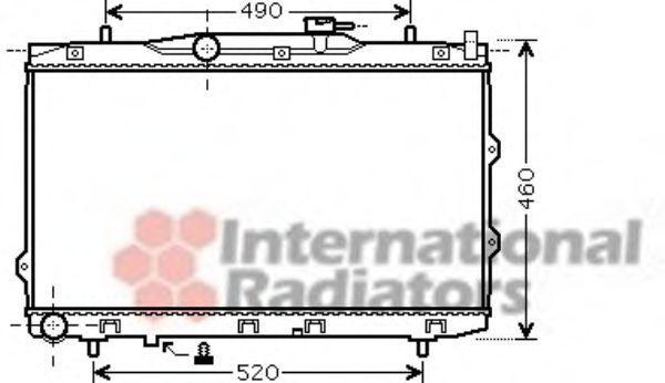 Радиатор охлаждения VAN WEZEL 83002074