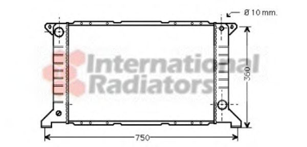 Радиатор охлаждения VAN WEZEL 18 00 2169