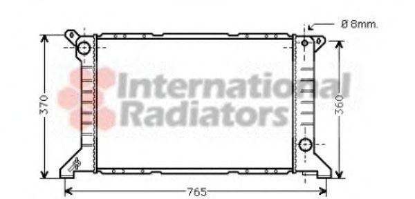 Радиатор охлаждения двигателя VAN WEZEL 18 00 2203