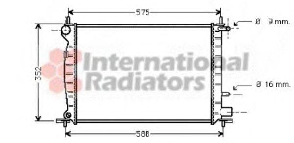 Радиатор, охлаждение двигателя VAN WEZEL 18002219