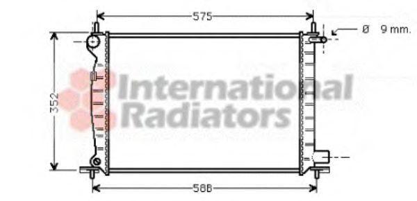 Радиатор, охлаждение двигателя VAN WEZEL 18002224