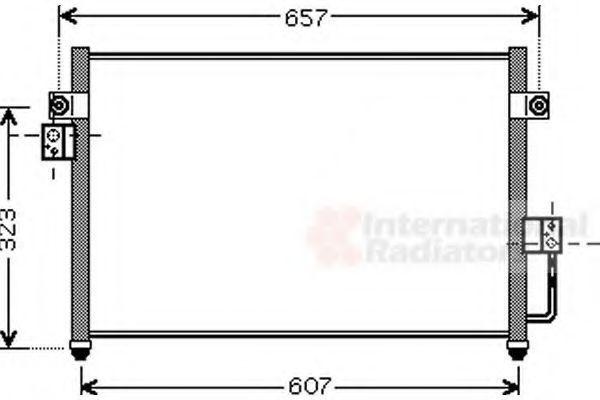 Конденсатор, кондиционер VAN WEZEL 82005134