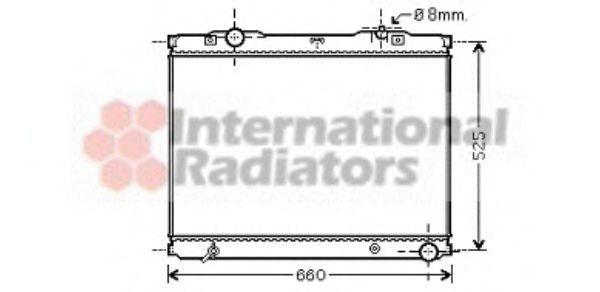 Радиатор охлаждения VAN WEZEL 83002055