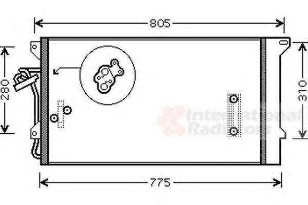 Радиатор кондиционера VAN WEZEL 58005244