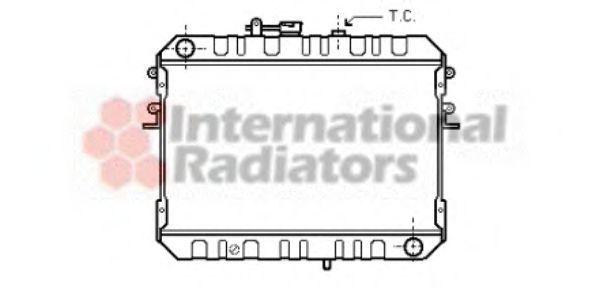 Радиатор, охлаждение двигателя VAN WEZEL 27002046