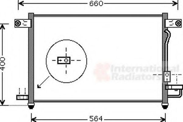 Радиатор кондиционера VAN WEZEL 81005061