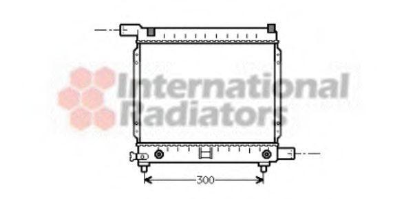 Радиатор охлаждения VAN WEZEL 3000206(4)