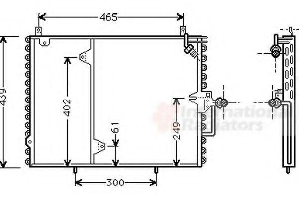 Радиатор кондиционера VAN WEZEL 30005160