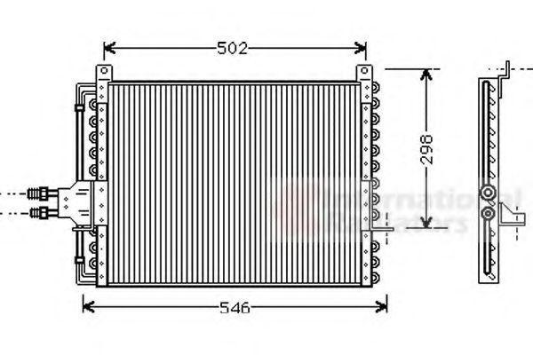 Конденсатор, кондиционер VAN WEZEL 30005205