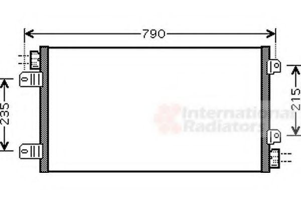 Радиатор кондиционера VAN WEZEL 43 00 5342